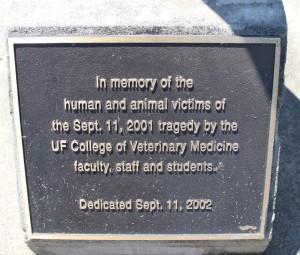 Photo of the 9.11.2001 Memorial Plaque