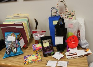 Presents left for Class of 2015 by Big Brothers, Big Sisters