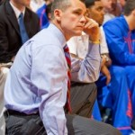 Billy Donovan watches his team intently during the Alabama game on March 1, 2011.