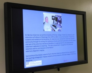 The new digital display case created through the support of friends and former colleagues of the late Dr. Norm Ackerman/