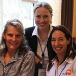 Dr. Beth, Dr. Amanda House, clinical assistant professor of large animal medicine, and Dr. Jackie Shellow, Class of '87.