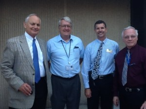 Dean Hoffsis, Dr. Courtney and others at graduate student reception in 2012.