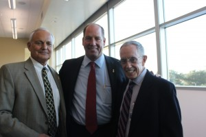 Dean Glen Hoffsis, Congressman Ted Yoho and Dr. Michael Schaer.