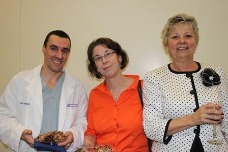 Dr. Antonio Pozzi, Dr. Dale Kaplan-Stein and Karen Legato.