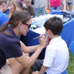 Face painting at Open House.
