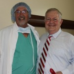 Dr. Gary Ellison with Richard Knellinger. (Photo by Sarah Carey)