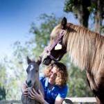 Dr. Sanchez and foal
