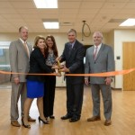 Ribbon cutting at clinical skills laboratory opening on Aug. 4.