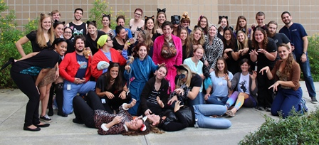 Class of 2019 in costume on Oct. 30, 2015.