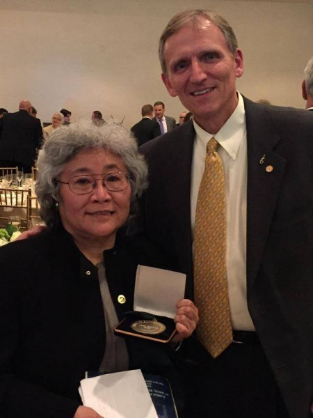 Dr. Yamamoto at Hall of Fame ceremony.