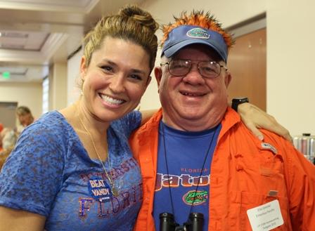 Dr. Dani McVety and Dr. Ellis Greiner at Homecoming 2015
