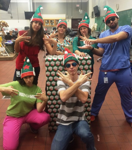 Santa Elves-first-year students 2015