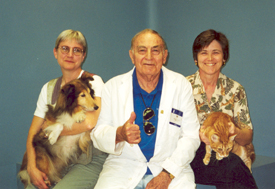 The late Dr. Wy Cripe is shown with two former Charlie Bild VIPS, Dr. Anne Lannon and Dr. Cynda Crawford in this file photo.)