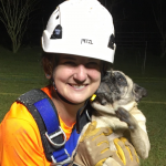 Jenny Groover with Pug