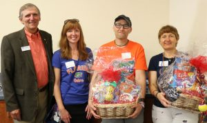 Gift basket recipients with Dean Lloyd, homecoming 2017.