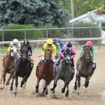 Horses racing at Churchill Downs. (Courtesy of Churchill Downs)