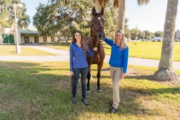 Danielle Ammeson and Dr. Morton