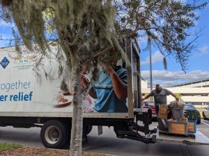 Food Bank truck being loaded